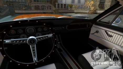 Ford Mustang GT MkI 1965 для GTA 4 вид изнутри