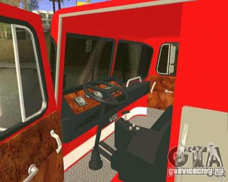Pumper Firetruck Los Angeles Fire Dept для GTA San Andreas вид сбоку