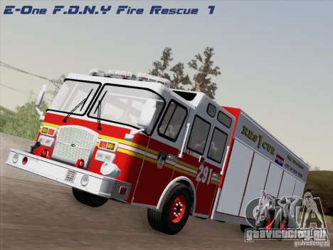 E-One F.D.N.Y Fire Rescue 1 для GTA San Andreas