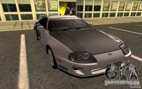 Toyota Supra RZ 1998 для GTA San Andreas вид сзади слева