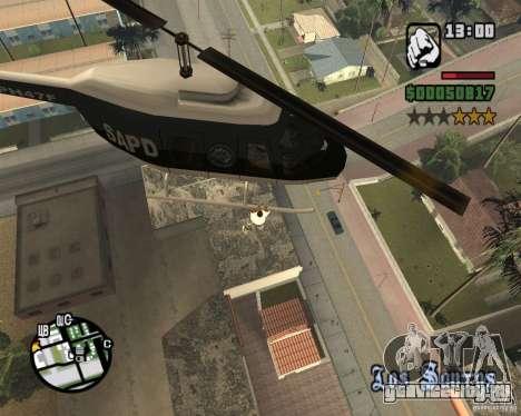 Запрыгиваем в вертолет для GTA San Andreas второй скриншот