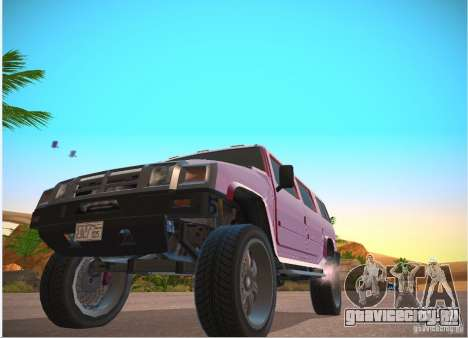 Patriot из GTA 4 для GTA San Andreas вид слева