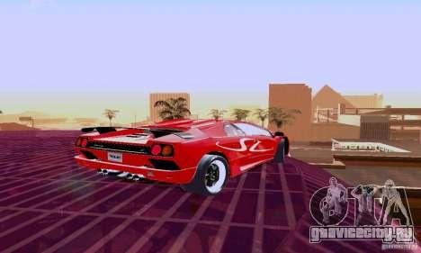 Lamborghini Diablo SV 1997 для GTA San Andreas вид сзади
