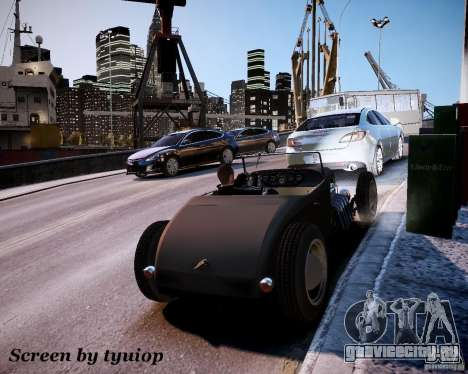 Roadster High Boy для GTA 4 вид сбоку