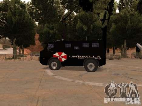 AM 7.0 Umbrella Corporation для GTA San Andreas вид сзади слева
