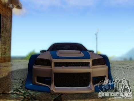 Nissan Skyline GTR34 DTM для GTA San Andreas вид сзади