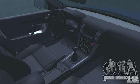 Subaru Legacy 2004 v1.0 для GTA San Andreas вид сверху