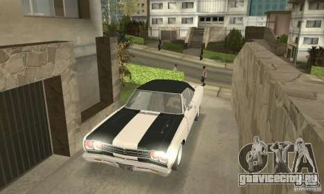 Plymouth Roadrunner 383 для GTA San Andreas вид снизу