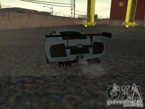 Lamborghini Murcielago R-GT для GTA San Andreas вид изнутри