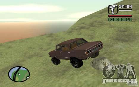 AZLK-2140 4x4 для GTA San Andreas вид сверху