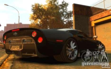 Spyker C8 Aileron для GTA 4 вид справа