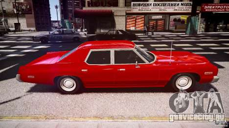 Dodge Monaco 1974 stok rims для GTA 4 вид изнутри
