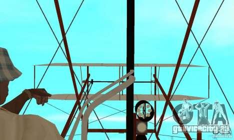 The Wright Flyer для GTA San Andreas вид сзади