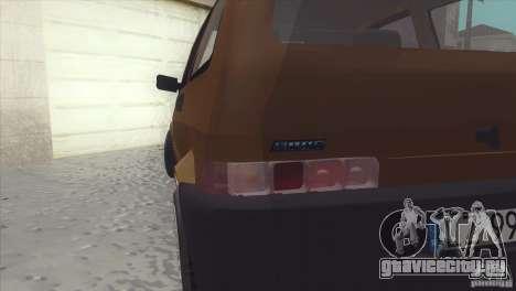 Fiat Cinquecento для GTA San Andreas вид сзади