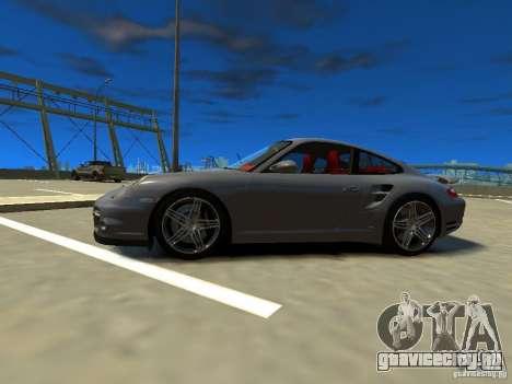 Porsche 997 Turbo для GTA 4 вид слева