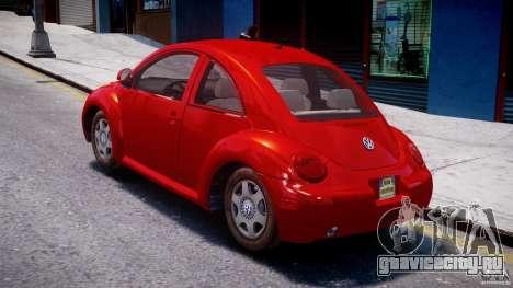 Volkswagen New Beetle 2003 для GTA 4 вид сзади слева
