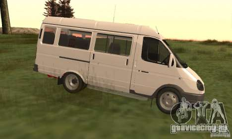 ГАЗель 32213 Новосибирская Маршрутка для GTA San Andreas вид слева