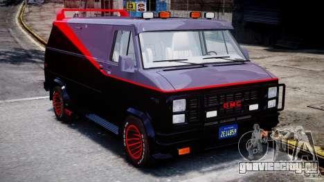 GMC Vandura A-Team Van 1983 для GTA 4 вид изнутри