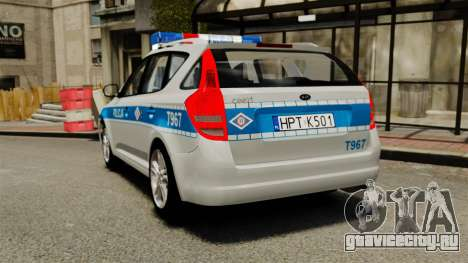 Kia Ceed 2011 SW Polish Police ELS для GTA 4 вид сзади слева