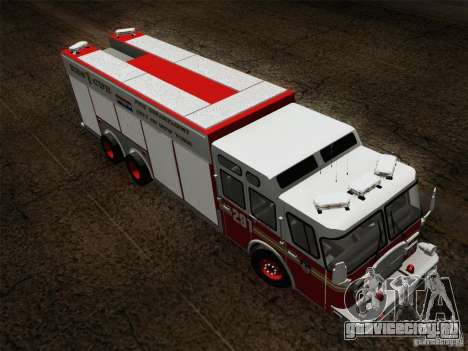 E-One F.D.N.Y Fire Rescue 1 для GTA San Andreas вид сбоку