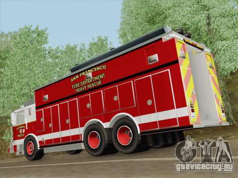 Pierce Walk-in SFFD Heavy Rescue для GTA San Andreas двигатель
