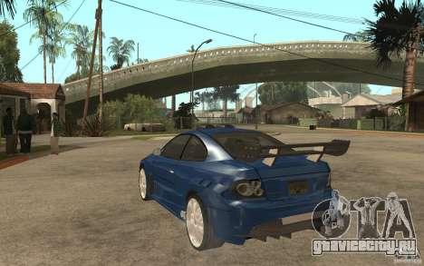 Vauxhall Monaro для GTA San Andreas вид сзади слева