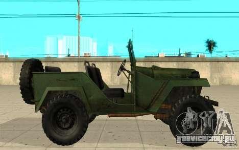 ГАЗ-67 для GTA San Andreas вид слева