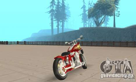 Orange County old school chopper Sunshine для GTA San Andreas вид слева
