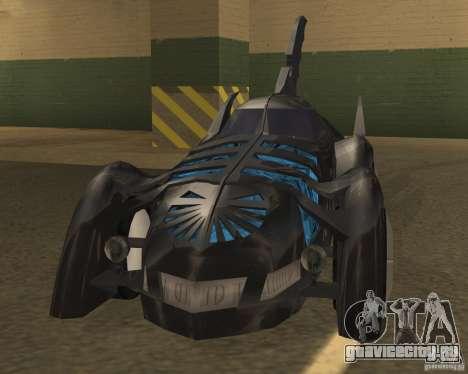 Бэтмобиль для GTA San Andreas вид слева