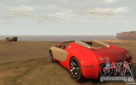 2009 Bugatti Veyron Grand Sport [EPM] для GTA 4 вид сзади слева