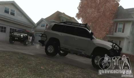 Toyota Land Cruiser 200 Off Road v1.0 для GTA San Andreas вид изнутри