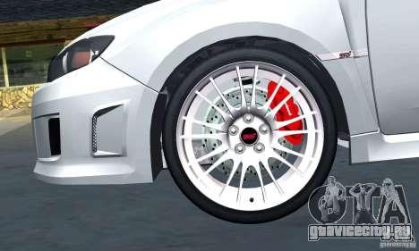 Subaru Impreza WRX STi 2011 TAXI для GTA San Andreas вид сбоку