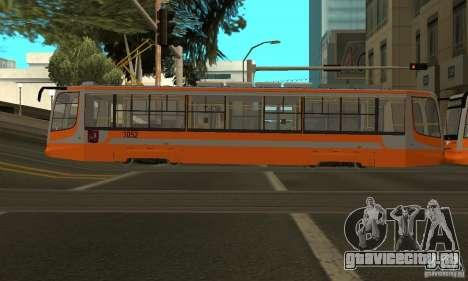 Трамвайный вагон 71-623 для GTA San Andreas вид справа