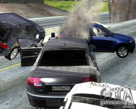 Audi A8L W12 для GTA San Andreas вид изнутри