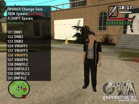 GTA IV peds to SA pack 100 peds для GTA San Andreas