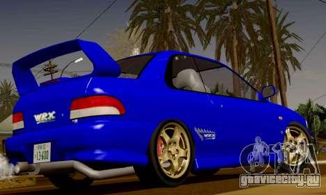 Subaru Impreza WRX GC8 InitialD для GTA San Andreas вид сзади