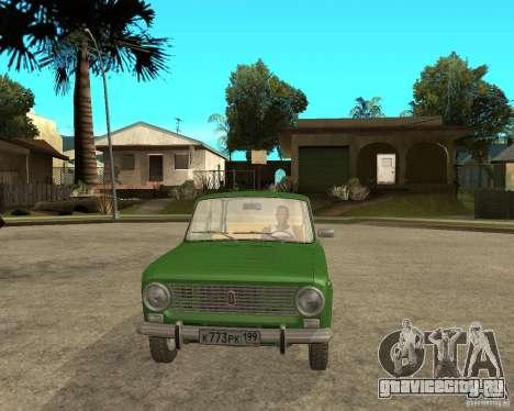 ВАЗ 2101 Копейка для GTA San Andreas вид сзади