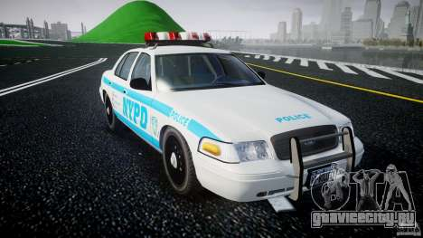 Ford Crown Victoria 2003 v.2 Police для GTA 4 вид сзади