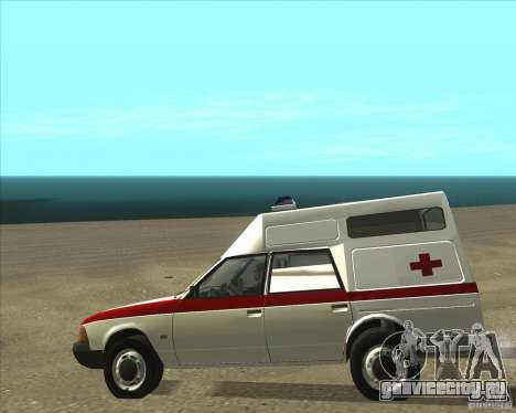 АЗЛК 2901 скорая помощь для GTA San Andreas вид сзади слева