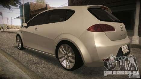 Seat Leon Cupra для GTA San Andreas вид сбоку