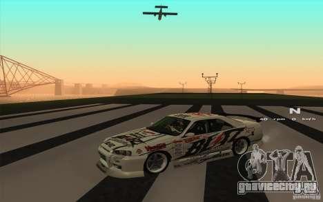 Nissan Skyline ER34 D1GP Blitz для GTA San Andreas вид сзади слева