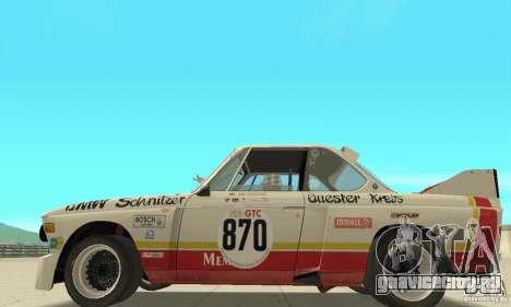 BMW 3.0 CSL Schnitzer 1975 Batmobile для GTA San Andreas вид сзади слева