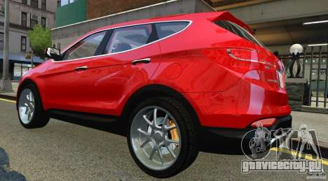 Hyundai Santa Fe Sport 2013 для GTA 4 вид справа