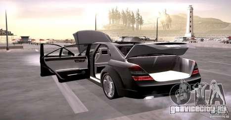 Mercedes-Benz S600 v12 для GTA San Andreas вид сверху