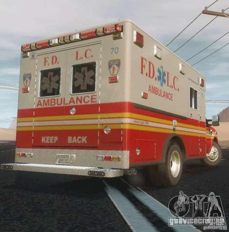 Ford F350 FDLC Ambulance v3.0 ELS для GTA 4 вид сзади