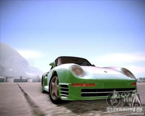 Porsche 959 1987 для GTA San Andreas вид сзади слева