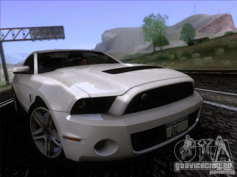 Ford Shelby Mustang GT500 2010 для GTA San Andreas вид сзади слева