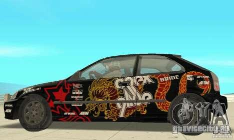 Honda-Superpromotion для GTA San Andreas вид сзади слева