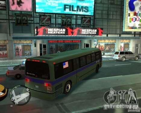 MTA NYC bus для GTA 4 вид сзади слева