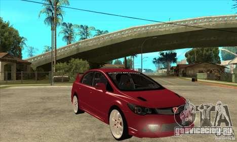 Honda Civic Mugen RR для GTA San Andreas вид сзади